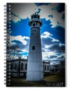 Marine City Michigan Lighthouse Spiral Notebook