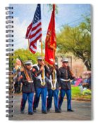 Marine Color Guard - Paint Spiral Notebook
