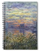 Marine View With A Sunset Spiral Notebook