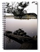Marion Lake And The Moon Spiral Notebook