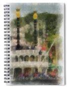 Mark Twain Riverboat Frontierland Disneyland Vertical Photo Art 01 Spiral Notebook