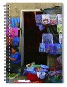 Market At Santiago Atitlan Guatemala Spiral Notebook