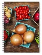 Market Fruits And Vegetables Spiral Notebook