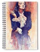 Marlen Dietrich  Spiral Notebook