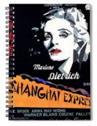 Marlene Dietrich Art Deco French Poster Shanghai Express 1932-2012 Spiral Notebook
