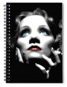 Marlene Dietrich Portrait Spiral Notebook