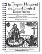 Marlowes Doctor Faustus Spiral Notebook