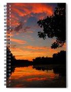 Marlu Lake At Sunset Spiral Notebook