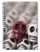 Maroon And White Spiral Notebook