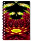 Maroon And Yellow Chrysanthemums Polar Coordinates Effect Spiral Notebook