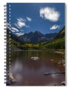 Maroon Bells At Night Spiral Notebook