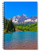 Maroon Bells In Color Spiral Notebook