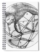 Mars: Schiaparelli, 1877 Spiral Notebook