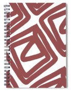 Marsala Envelopes- Abstract Pattern Spiral Notebook