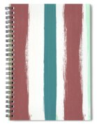 Marsala Stripe- Abstract Pattern Painting Spiral Notebook