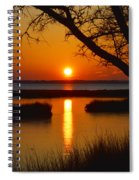 Ocean City Sunset At Old Landing Road Spiral Notebook
