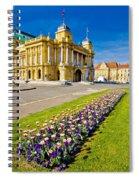Marshal Tito Square In Zagreb Spiral Notebook