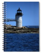 Marshall Point Surrounded By Blue Spiral Notebook