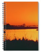 Marshland At Dusk, Bayou Country, Route Spiral Notebook