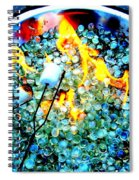 Marshmallow Fire Abstract Spiral Notebook