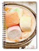 Marshmallow Peach Yogurt Parfait Spiral Notebook
