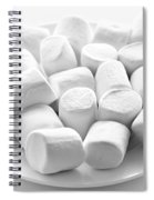 Marshmallows On Plate Spiral Notebook