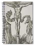 Martin Luther And Frederick IIi Of Saxony Kneeling Before Christ On The Cross Spiral Notebook