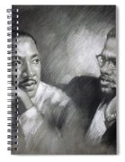 Martin Luther King Jr And Malcolm X Spiral Notebook