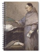 Martin Rithone Blessing The Body Of The Count Of Egmont Wc On Paper Spiral Notebook