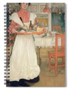 Martina Carrying Breakfast On A Tray Spiral Notebook