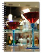Martini Glasses In Bar Spiral Notebook