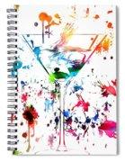 Martini Paint Splatter Spiral Notebook