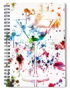 Martini Watercolor  Spiral Notebook