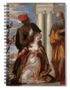 Martyrdom Of Saint Justina Spiral Notebook