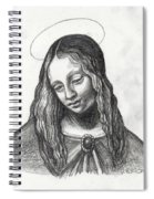 Mary After Davinci Spiral Notebook