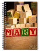 Mary - Alphabet Blocks Spiral Notebook