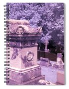 Mary And John Tyler Memorial Near Infrared Lavender And Pink Spiral Notebook