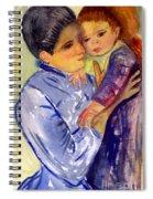 Mary Cassatt Helene De Septeuil In Watercolor Spiral Notebook