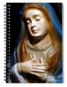 Mary In Manger Spiral Notebook