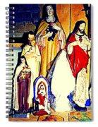 Mary Joseph And Jesus Vintage Religious Catholic Statues Patron Saints And Angels Cb Spandau Quebec Spiral Notebook