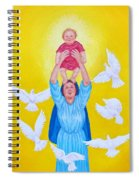 Mary Offers Her Child Jesus To His Father Spiral Notebook