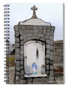 Mary On Shelf Spiral Notebook