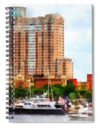 Maryland - Boats At Inner Harbor Baltimore Md Spiral Notebook