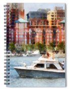 Maryland - Cabin Cruiser By Baltimore Skyline Spiral Notebook
