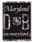 Maryland License Plate Spiral Notebook