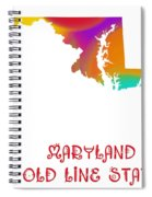 Maryland State Map Collection 2 Spiral Notebook