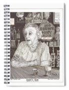 Mary In Marys Bar Cerrillos New Mexico Spiral Notebook