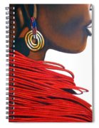 Masai Bride - Original Artwork Spiral Notebook