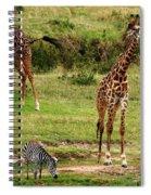 Masai Mara Wildlife Scene Spiral Notebook