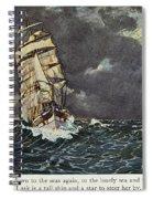 Masefield Sea Fever, 1902 Spiral Notebook